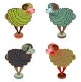 Moutons verts et bleus à la nouvelle année chinoise Photos libres de droits