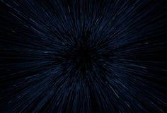 Mouvement abstrait de vitesse de la lumière de l'espace Images libres de droits