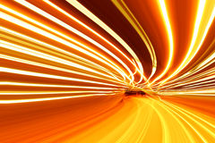 Mouvement abstrait de vitesse sur une route d'omnibus Images stock