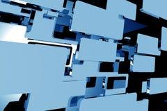 Mouvement bleu abstrait Photos stock