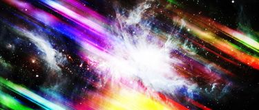 Mouvement coloré avec l'étoile sur le fond abstrait Éléments de Th Photographie stock libre de droits