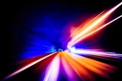 Mouvement coloré de vitesse brouillé pour le fond Images libres de droits