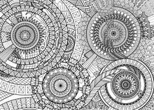Mouvement complexe de mandala illustration stock