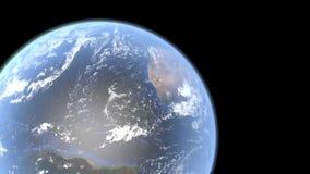 Mouvement d'espace autour de la terre illustration stock