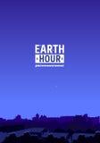 Mouvement d'heure de la terre illustration libre de droits