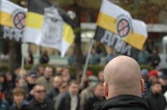 Mouvement d'organisation d'opposition contre l'immigration illégale à Photo stock