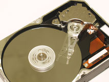 Mouvement d'unité de disque dur Images libres de droits