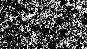 Mouvement de bruit blanc sur le fond noir banque de vidéos