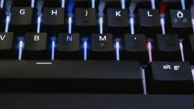 Mouvement de chariot le long de clavier banque de vidéos