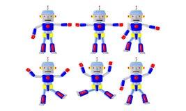 Mouvement de corps de robot illustration de vecteur