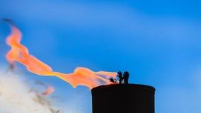Mouvement de flamme du feu Image libre de droits