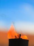 Mouvement de flamme du feu Photo libre de droits