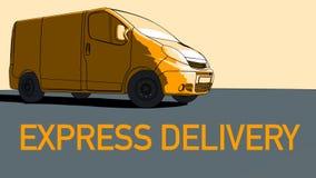 Mouvement de fourgon de livraison express illustration de vecteur