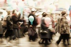 Mouvement de gens photographie stock libre de droits