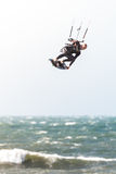 mouvement de kitesurfer de tache floue d'action Photos stock