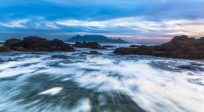 Mouvement de l'océan photo libre de droits