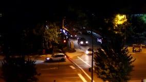 Mouvement de la circulation après célébration du jour de Canada la nuit banque de vidéos