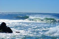 Mouvement de la mer éclatante Photos libres de droits