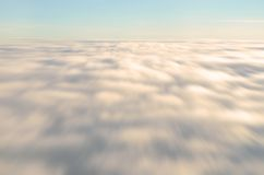Mouvement de nuage de tache floue Photo stock