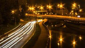Mouvement de nuit sur la promenade Photos libres de droits