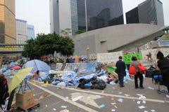 Mouvement de parapluie d'Amirauté en Hong Kong Images libres de droits