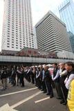 Mouvement de parapluie d'Amirauté en Hong Kong Photos libres de droits