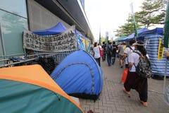 Mouvement de parapluie d'Amirauté en Hong Kong Images stock