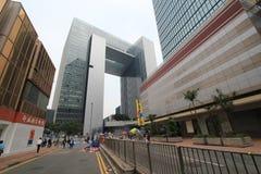 Mouvement de parapluie d'Amirauté en Hong Kong Photos stock
