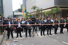 Mouvement de parapluie d'Amirauté en Hong Kong Photographie stock libre de droits