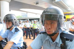 Mouvement de parapluie en Hong Kong Images stock
