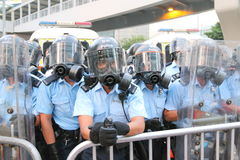 Mouvement de parapluie en Hong Kong Photographie stock libre de droits