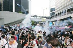 Mouvement de parapluie en Hong Kong Photos stock