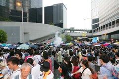 Mouvement de parapluie en Hong Kong Photo stock