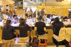 Mouvement de parapluie en Hong Kong Image stock