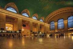 Mouvement de passager par la station de Grand Central, New York Image libre de droits