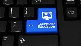 Mouvement de rotation d'enseignement de l'informatique sur le bouton de clavier d'ordinateur illustration de vecteur