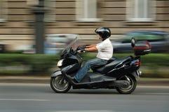 Mouvement de scooter Images stock