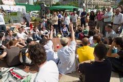 Mouvement de spanishrevolution fâché de 15-M Images libres de droits