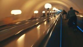 Mouvement de timelapse de souterrain d'heure de pointe clips vidéos