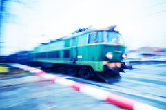 Mouvement de train Photographie stock
