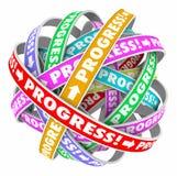 Mouvement en avant d'amélioration continue sans fin de cycle de progrès illustration stock