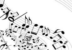 Mouvement giratoire de thème de musique illustration libre de droits