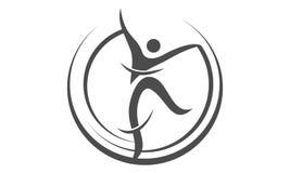 Mouvement Logo Design Template de danse illustration de vecteur