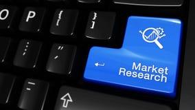 Mouvement mobile de recherche de marché sur le bouton de clavier d'ordinateur illustration stock