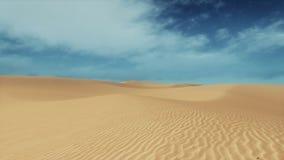 Mouvement par les dunes arénacées de désert au daytme banque de vidéos