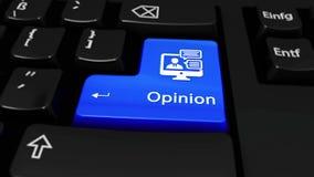 391 Mouvement rond d'opinion sur le bouton de clavier d'ordinateur banque de vidéos