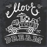 Mouvement 2 votre rêve Photos stock