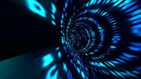 Mouvements avec le style de matrice Couler le vortex de données numériques résolution 4K illustration libre de droits