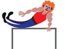 Mouvements frais de gymnastique illustration stock