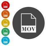 MOV file icon. Vector icon stock illustration